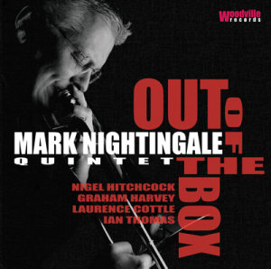 "Ablum cover image of ""Outof the box"" by the Mark Nightingale Quintet"